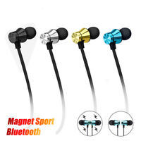 Earbuds Headphone Bluetooth 4.2 Stereo Earphone Wireless Magnetic Headset