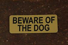 BEWARE OF THE DOG Sign Letterbox, Gate, Fence, Door & Wall Security