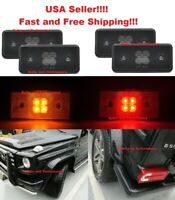 SMOKED LENS LED FRONT & REAR SIDE MARKER LIGHTS FOR 2002 - 2014 MERCEDES G-CLASS
