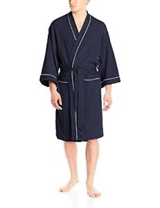 Fruit of the Loom Mens Sleepwear Waffle Kimono Robe- Pick SZ/Color.