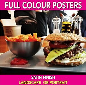 Full Colour Posters - Water & Tear Resistant - Trimmed to any size