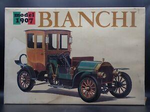 1907 07 BIANCHI BANDAI RARE 1:16 SCALE VINTAGE OPENED PLASTIC MODEL KIT