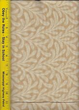 "108"" WIDE QUILT BACKING FABRIC: FLOWY,  FLW-CAMEL, 100% COTTON, By The Yard"