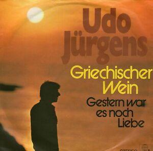 SINGLE  UDO JÜRGENS - GRICHISCHER WEIN ,7inch