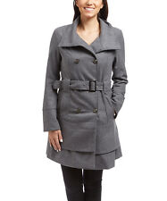 Size S Charcoal Belted Coat NWT