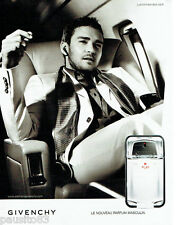 PUBLICITE ADVERTISING 096  2008  parfum  Play pour homme Givenchy J. Timberlake*