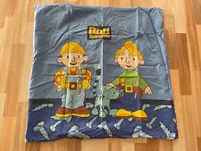 Bob der Baumeister Bettwäsche Kinder Blau ca. 135x200 cm & ca. 80x80 cm Herding