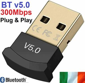 Bluetooth 5.0 USB Dongle CSR 300Mbps Win 10 7 Vista Adapter PC Laptop Computer