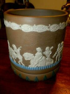 Victorian Doulton Lambeth Siliconware Jardinière by Edith Harrington Dated 1881