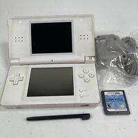 Nintendo DS Lite Polar White USG-001 - For Parts or Repair - Charges & Turns On