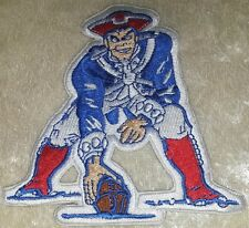 "New England Patriots Pat Mascot NFL 4"" Iron On Embroidered Patch ~USA FREE Ship!"
