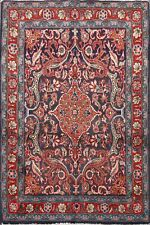 Vintage Floral Kashmar Animal Design Hand-Knotted Area Rug 3'x5' Oriental Carpet