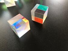2pcs 17mm Very Slight Cross DichroicRGB Combiner&Splitter X-cube Glass Prism
