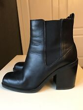 Autograph Marks & Spencer Leather Ladies Ankle High Heel Shoe Boot Size 6 39