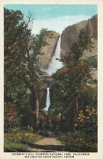 Union Pacific Railroad Yosemite National Park California Postcard 1930's