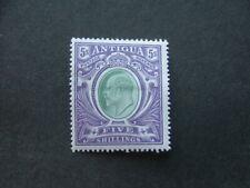 Antigua KEVII 1903 5/- grey-green & violet SG40 MM