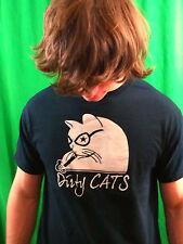 DIRTY CAT Black 100% Cotton Size L T-Shirt