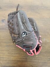 """Rawlings WFP120 Girls 12"""" Fast Pitch Softball Glove Right Hand Throw Brown Pink"""