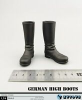 "ZYTOYS 1/6th WWII High Boots Hollow Shoes Fit 12"" Male Action Figure Toys ZY1022"