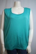 69b9181557140 White Stag Woman Plus 30W 32W Green Scoop Neck Sleeveless Tank Top Shirt