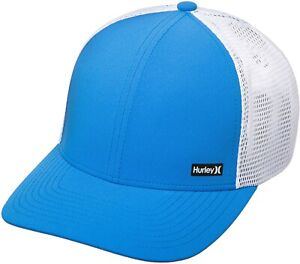 Hurley Pacific Blue and White Snapback Hat Cap