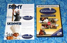 Ratatouille Cooking Fun For All Ages Bonus DVD with Character Recipe Cards Pixar