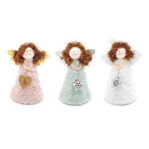 Christmas Tree Topper Plush Fairy Angel Treetop Figurine Ornament for Xmas Tree