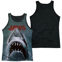 JAWS POSTER Licensed Adult Men's Tank Top Sleeveless Tee SM-3XL