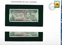Banknotes of All Nations Ethiopia 1976 1 Birr P-30b UNC Kidan 2 Consecutive