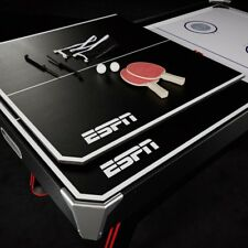 2 in 1 Multi Game Table Air Powered Hockey and Table Tennis w Electronic Scoring