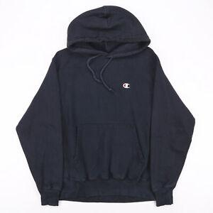 Vintage CHAMPION Black 00s Pullover Hoodie Mens M