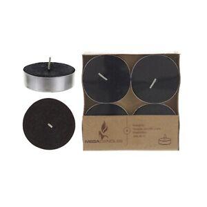 Mega Candles - Unscented Mega Tea Light Candles - Black, Set of 12 CGA061-BK