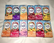 70 Crystal Light on the Go Drink Mix packets only 7box many flavor 2 choose from