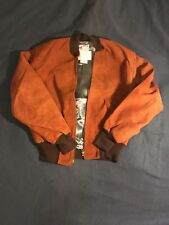 "1960's  Rust Suede bomber jacket/driving jacket, mint Deadstock size 42"" chest"