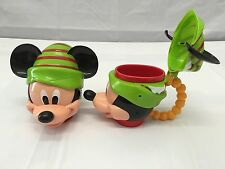 Disney Parks 2015 MICKEY MOUSE Christmas Elf Stein Cup Mug exclusive NEW!!
