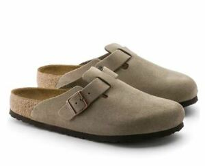 BIRKENSTOCK Boston Soft Footbed Suede Leather Women Clog AUTHENTIC NEW
