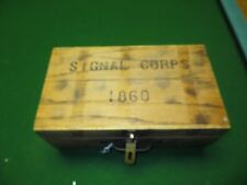 SIGNAL CORPS 1860,LT. COL.GRAY WOODEN HINGED BOX