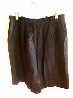 Doncaster Silks Black Textured Weave Lined Shorts     10