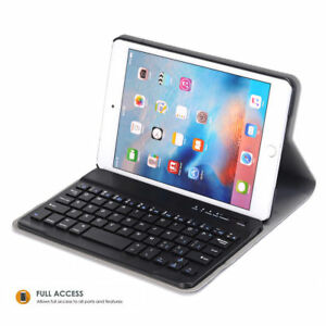 Detachable Wireless Bluetooth ABS Keyboard Case Cover Stand for iPad Mini 123456