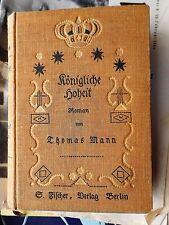 Thomas Mann: alteza real 5. tirada s. fischer 1909 OLN.