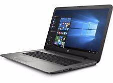 "HP 17 17.3"" 1080 Notebook/Laptop Quad Core 2.2GHz 8GB 1TB DVDRW WiFi W10 Silver"