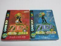 Legend of Zelda Oracle of Seasons/Ages Nintendo Gameboy Color Used Japan Tested