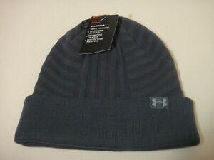 Under Armour Men Coldgear  Beanie Hat Color Bluish Gray