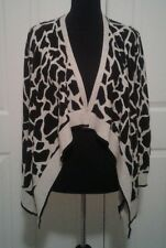 NWOT BCBG MAXAZRIA Women's Animal Print Cardigan In Black and White Sz S