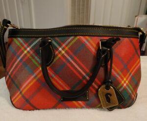 Dooney & Bourke Red Tartan Plaid Purse Handbag ~ Beautiful!