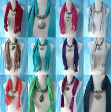 *US Seller*lot of 50 wholesale  pendant necklace scarf charm jewelry bulk