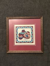 New ListingFinished And Framed Etoile Floss Jars Cross Stitch Piece