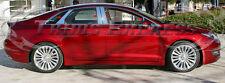 2013-2017 Lincoln MKZ 8Pc Chrome Pillar Post Stainless Steel w/kp cutout Trim