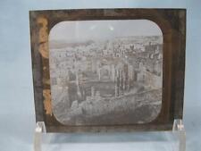 Magic Lantern Glass Slide Egyptian Egypt European Ruins Archeological Site (O)