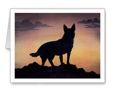 Australian Cattle Dog At Sunset Set of 10 Note Cards With Envelopes